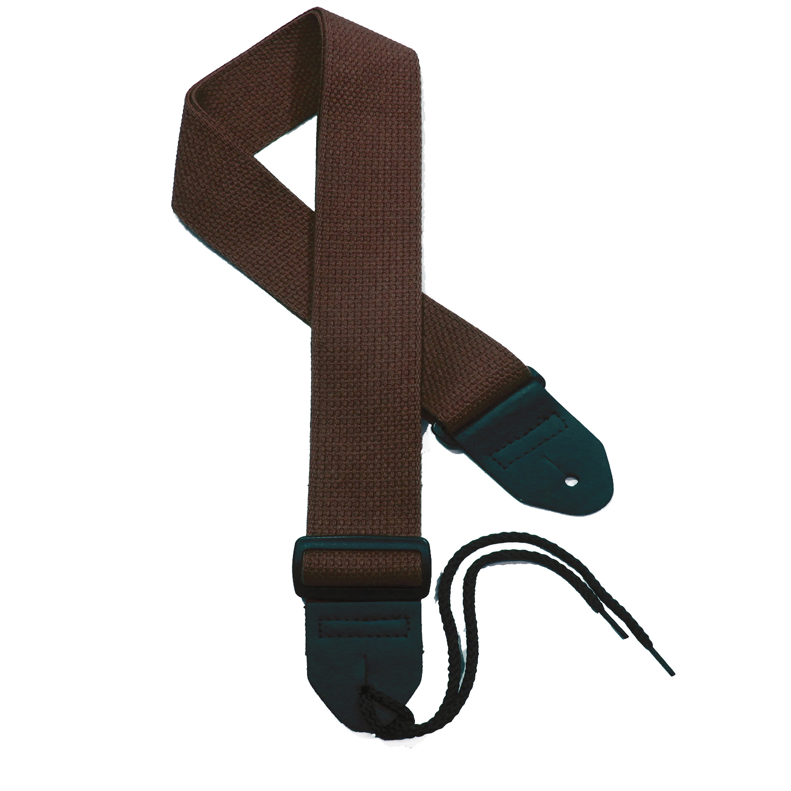 Dark Brown Cotton Guitar Strap