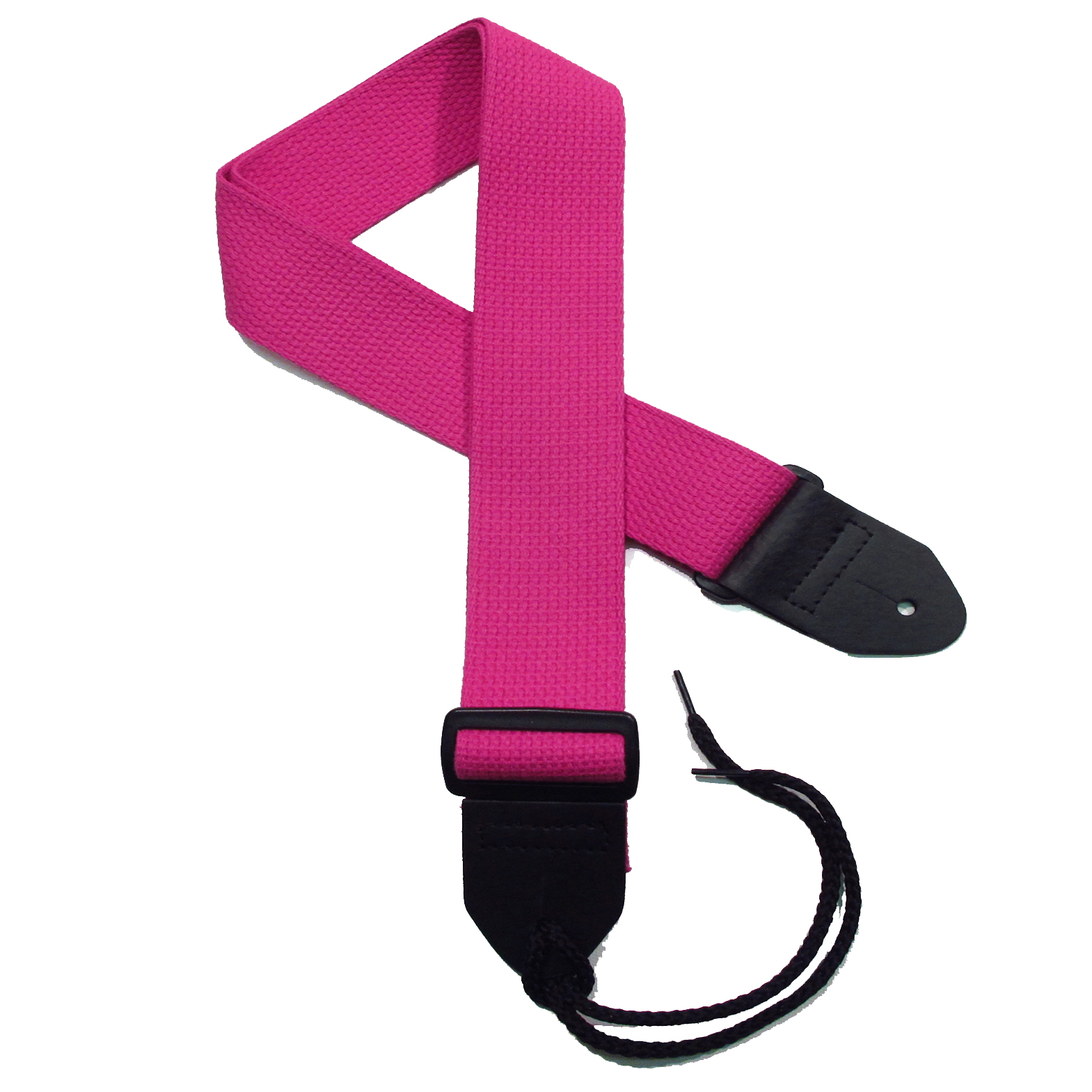 Fuchsia Cotton Guitar Strap