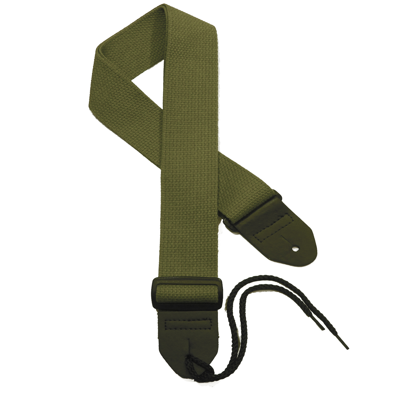 Olive Green Cotton Guitar Strap