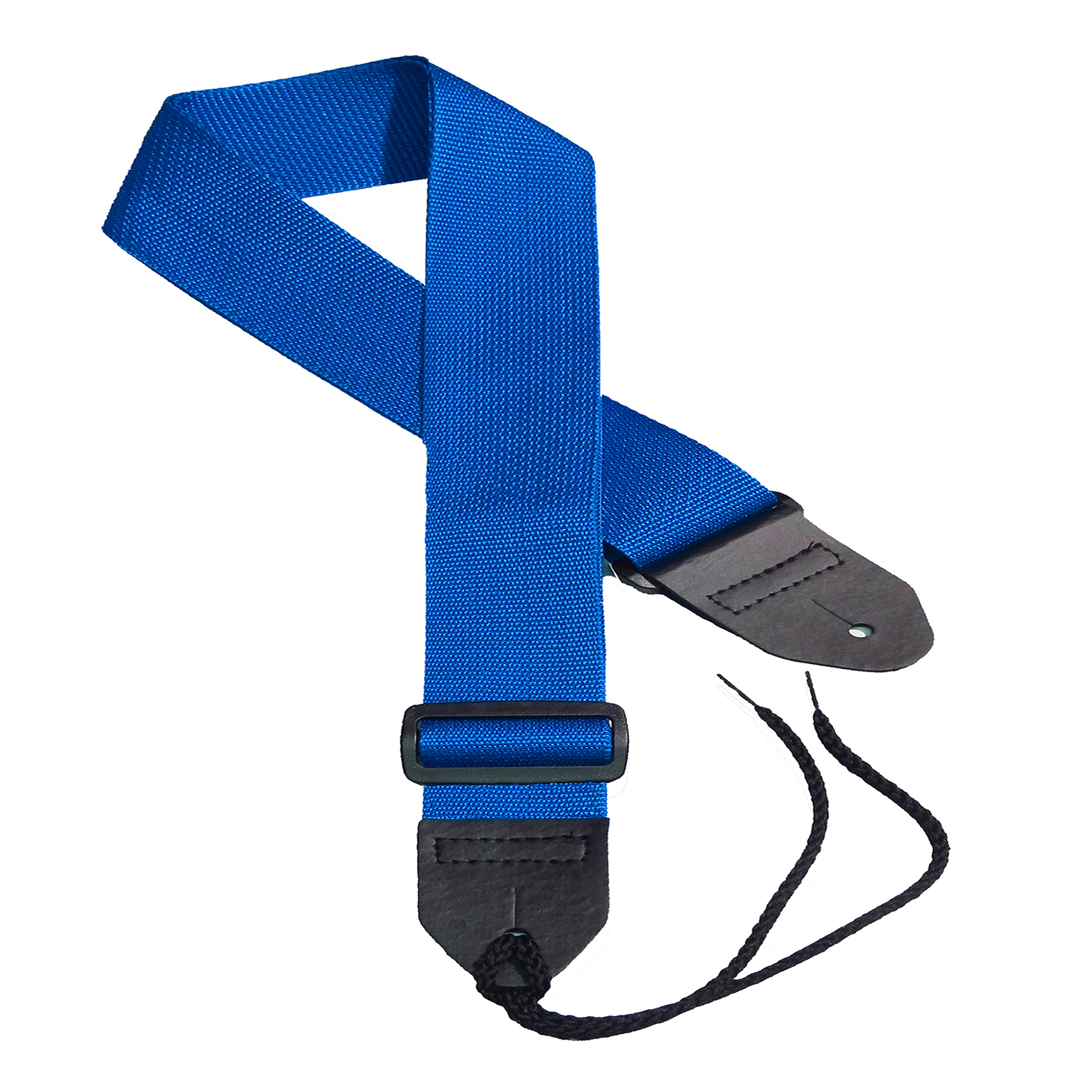Blue poly guitar strap
