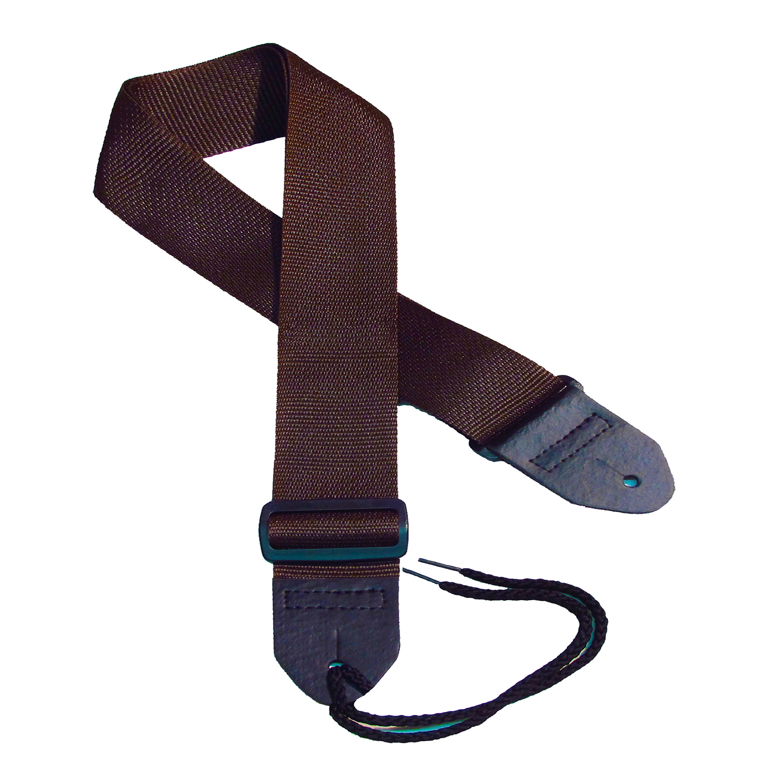 Brown poly guitar strap