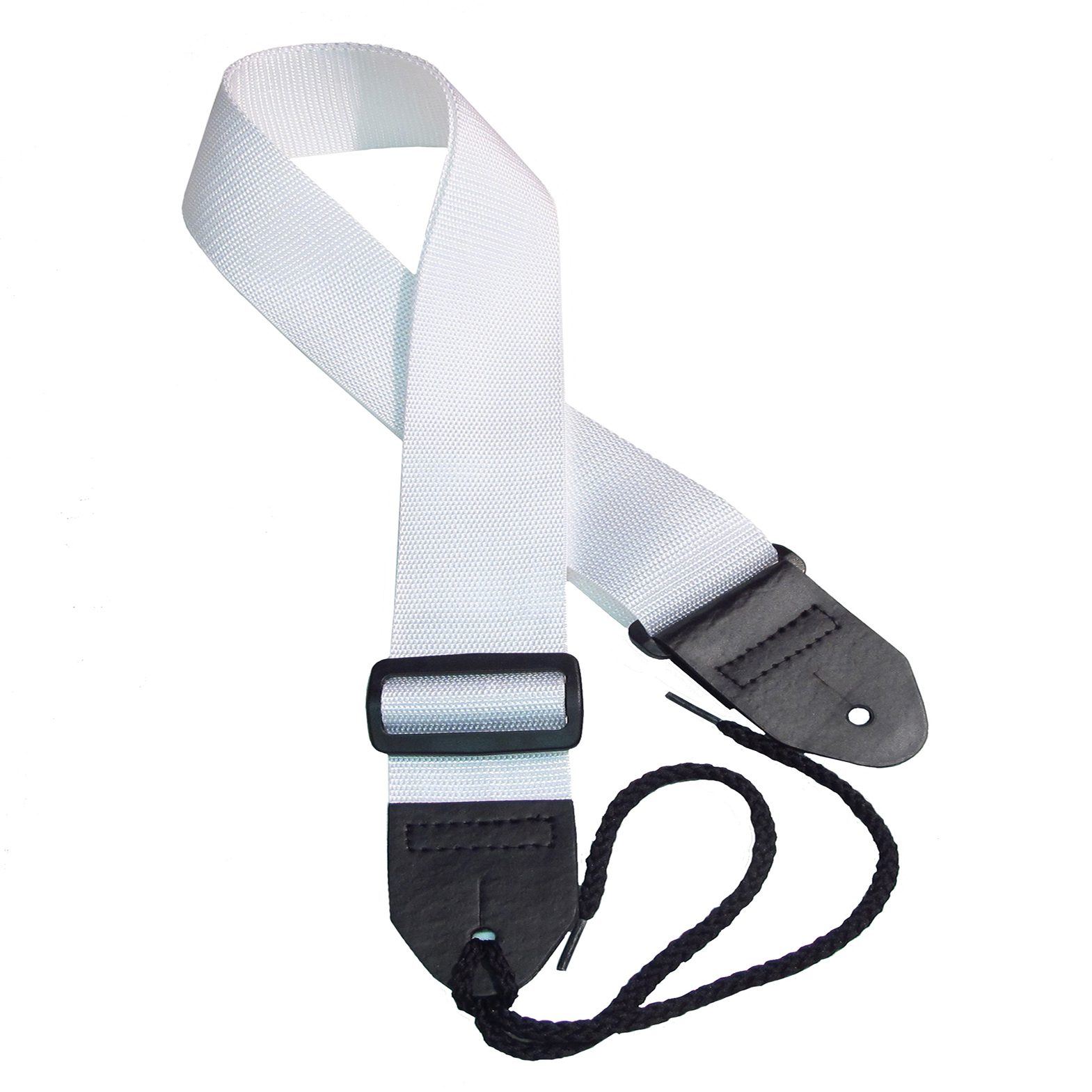 White poly guitar strap